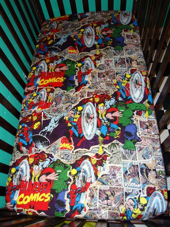 Avengers Marvel Fitted Crib Sheet By Courageousinc On Etsy