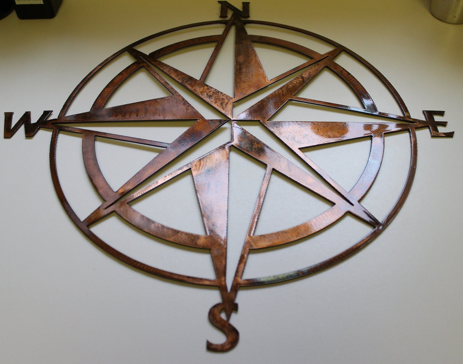 Outdoor Wall Decor Nautical : Nautical compass rose wall art metal decor by