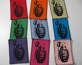 One Grenade patch in any color you choose....FREE SHIPPING USA