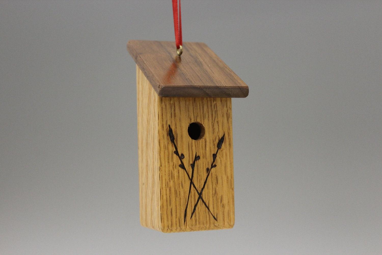 Birdhouse Christmas Tree Ornaments : Bird house christmas tree ornament