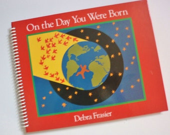 BIRTH DAY Journal On the Day You Were Born  Spiral Notebook  Book Upcycled  Recycled Earth Friendly BABY book