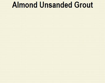 Mosaic Grout Almond UNSANDED NON-SANDED One Pound