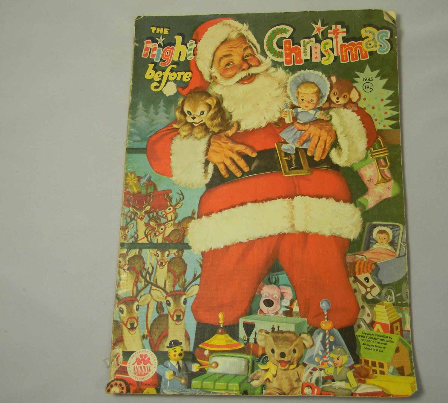 vintage the night before christmas book