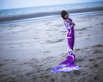 Sarong - Beach Cover Up - Purple, Violet - Pareo, Wrap, Stole, Shrug, Scarf - Extra Large, Extra Long - Bridesmaid Beach Gift - Hand Painted
