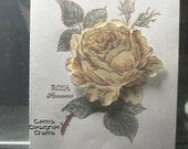 Handmade Card: Yellow Rose