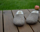 To Lisa Felted Unisex slippers - felt wool men or woman shoes - handmade_ felt organic wool house shoes_ any size