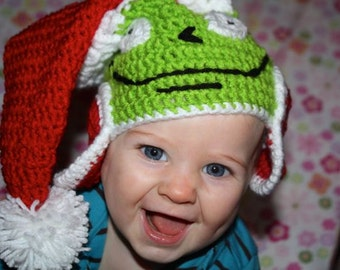 Santa Grinch Hat Christmas  Photo Prop