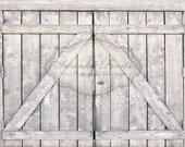 NEW ITEM 7ft x 5ft Light Barn Doors / Vinyl Photography Backdrop Floordrop Newborn photos