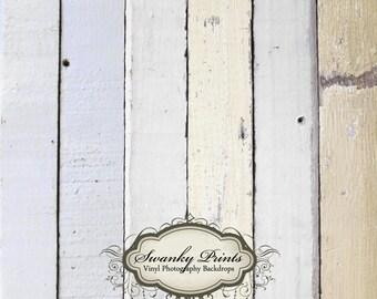 3.5ft x 3.5ft Vinyl Photography Backdrop WOOD Floordrop / Light Painted Wood