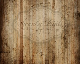 5ft x 5ft Vinyl Photography Backdrop / Grungy Old Wood