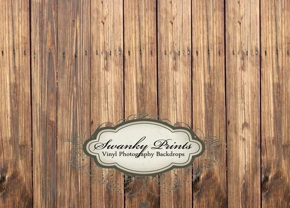 7ft x 5ft Vinyl Photography Backdrop / Brown Wood / Custom Photo Prop