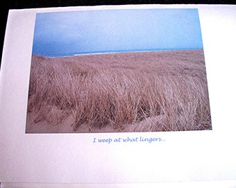Sympathy Card for sorrow photo art of beach scenery with title The Sea of All Causing