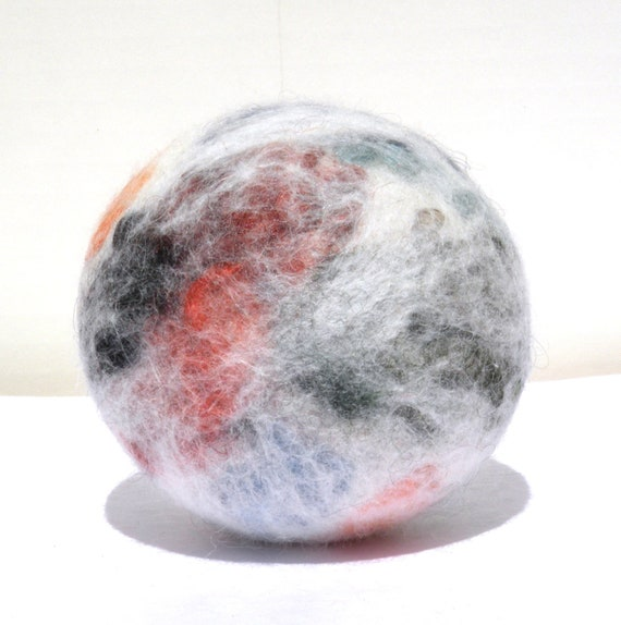 Wool Felted Toddler cloud soft  Ball, Sensory Integration, Special Needs, Autistic Children, Safe play