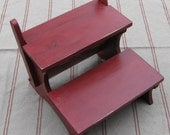 Distressed Finish Bedside Foot Stool