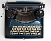 1920s Corona Typewriter - Blue - Manual Keys - Pre-Smith Corona
