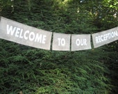 Burlap Banner Wedding Sign Welcome To Our Reception