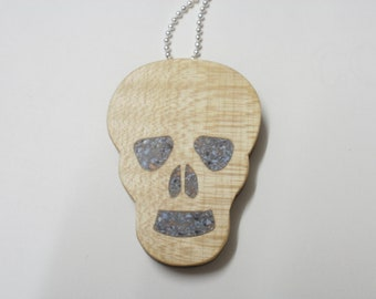 skull necklace   wood scroll saw