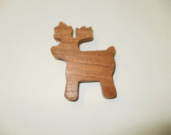 reindeer  brooch wood
