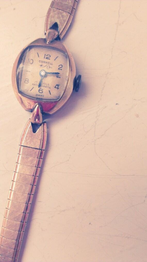 REDUCED- Cornell - Vintage Ladies 10K GF Swiss Made Cornell Watch - circa 1940's