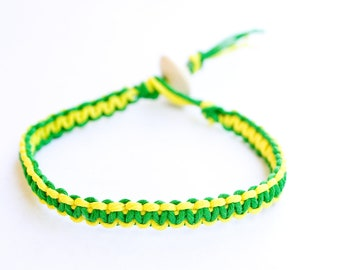 Yellow and Green Bracelet Reversible