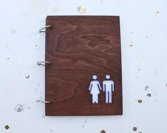 She & He mini album/ journal/ wedding guest book