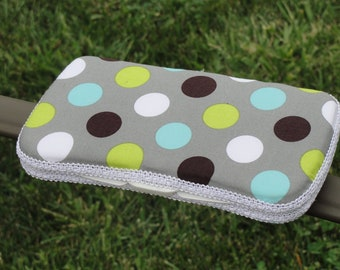 Baby Wipes Case, Travel Baby Wipes Case Designer Dot Boutique Print