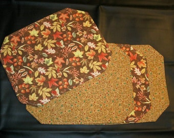 Reversible Fall/Christmas Placemats (Set of 4