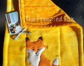 Cute Custom Fox Burp Cloth, Foxes Baby Burp Rag unisex, OFG Team