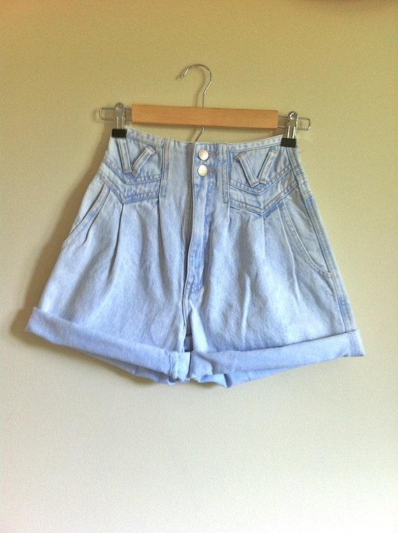 Take 10% Off: Vintage Light Wash High Waisted Shorts