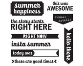Elle's Studio Clear Photopolymer Stamps - Saltwater - Summer Happiness -- MSRP 10.00