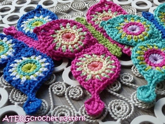 Crochet pattern BUTTERFLY by ATERGcrochet