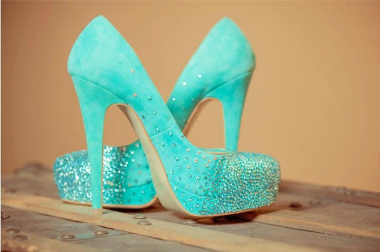 RESERVED Tiffany blue wedding shoes swarovski bridal pumps