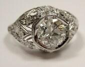 Reserved....1.14ct GIA VS2 1900 Edwardian period  Original Diamond Engagement ring in Platinum