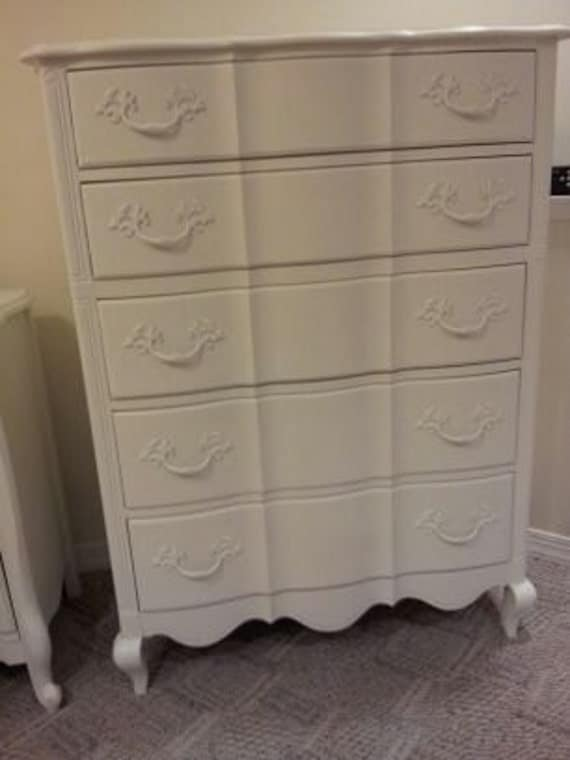 Tall Shabby Chic French Dresser