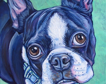 "8"" x 8"" Custom Pet Portrait Painting in Acrylic Paint on Ready to Hang Canvas of One Dog, Horse, or Other Animal"