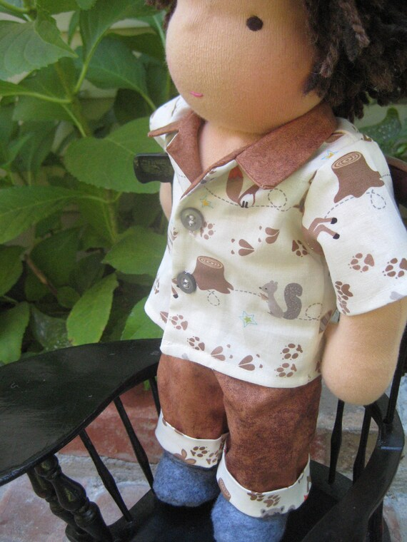 Waldorf Boy Shirt, Shorts and Pants for 13, 14,  inch Pookidoll