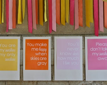 You Are My Sunshine Song Posters- You Are My Sunshine Party by Bloom