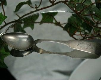 Antique Silver Spoon - Engraved - Circa 1800s