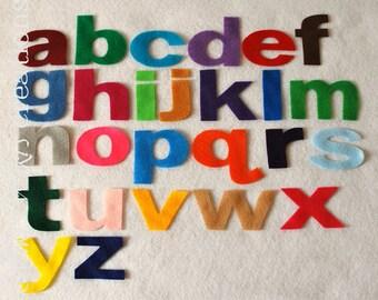 Felt lowercase letters - Pick your color