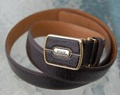vintage 80's DOLCE COLLECTION Italian leather belt