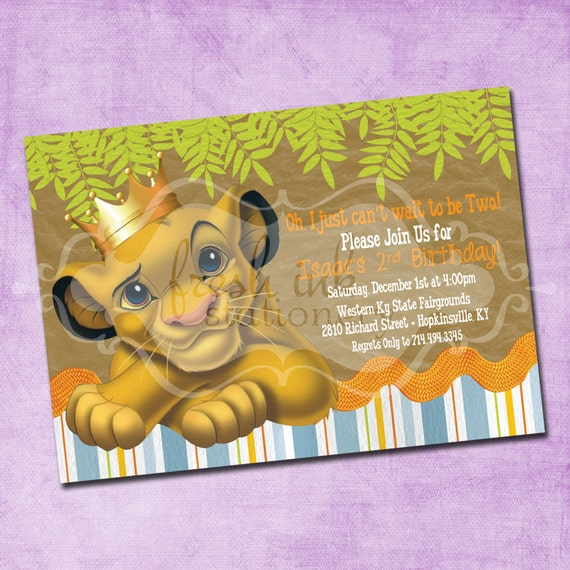 Lion King Birthday Invitations for your inspiration to make invitation template look beautiful