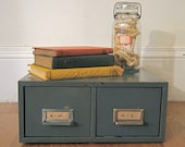 Vintage Industrial Two Drawer File Cabinet