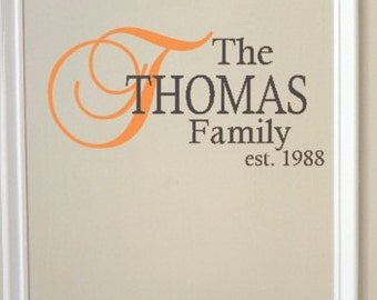Family Name Wall Decal
