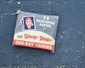 Howdy Doody Sun-Ray Camera Developing Papers - Unopened