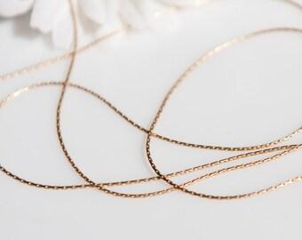 ChSHG004 - Satin Hamilton Gold Beading Chain - 5 Feet