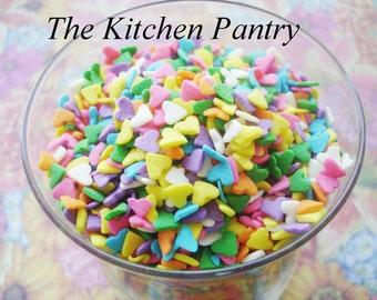 Hearts Pastel  Jimmies Sprinkles Cupcake Cookies Cakes  2 oz