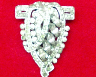 Clearance Art Deco Antique FURR CLIP RHINESTONES Dress Clip Fashion Brooch Lapel Clip Shop Now for Christmas Birthdays Weddings