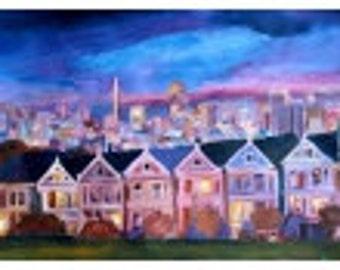 San Francisco - Painted ladies - Limited Edition Fine Art Print