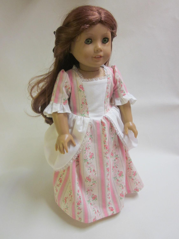 18 Inch American Girl Doll Clothes Felicity Elizabeth Colonial