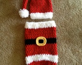 Instant Download - PDF Santa Cocoon and Hat PATTERN - Christmas Crochet Pattern - Christmas - Newborn Photography prop